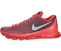 Nike Men\'s KD 8 Bright Crimson/White/Black Basketball Shoe 9.5 Men US
