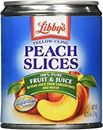 Libby\'s Peaches Sliced In Pear juices Concentrate, 8.25-Ounce Cans (Pack of 12)