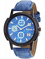 Relish Blue Denim Style Analog Watches For Men - RELISH-512