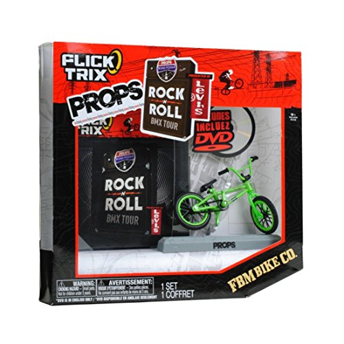 spinmaster-flick-trix-fingerbike-real-bikes-unreal-tricks-bmx-bicycle-miniature-set-green-color-fbm-