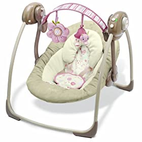 Boppy Rock in Comfort Travel Swing - Pink