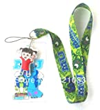 Monsters Inc Lanyard with Charm and ID Badge Holder Keys - Green Band