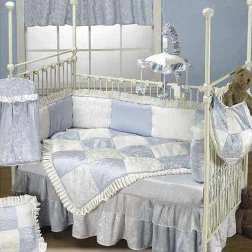 Baby Doll Bedding King Crib Bedding Set, Blue