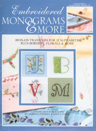 Embroidered Monograms & More (Leisure Arts #1984) front-1007460