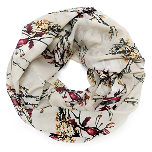 accessu-Echarpe-Foulard-pour-Femme-Birds-and-Branches-Animal-Design