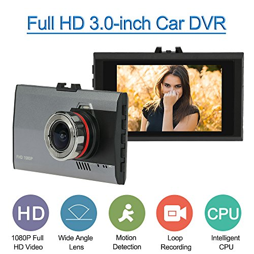 KKmoon-Ultra-Slim-30-Pouces-Voiture-Dash-Cam-Vhicule-Camescope-avec-Vision-de-Nuit-G-Sensor-Motion-Detection