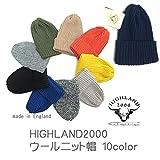 HIGHLAND 2000 ハイランド2000 【ウール:10色】 キャップ ニットキャップ ウール100% ニット帽 英国製 [並行輸入品] (NAVY(ネイビー))