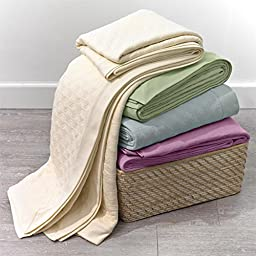 Brylanehome Quilted Knit Blanket (Ivory,King)