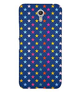 multicoloured stars in blue background 3D Hard Polycarbonate Designer Back Case Cover for Lenovo ZUK Z1