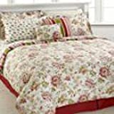 Jessica Sanders Gardendale 10 Piece King Comforter Bed In A Bag Set Wine