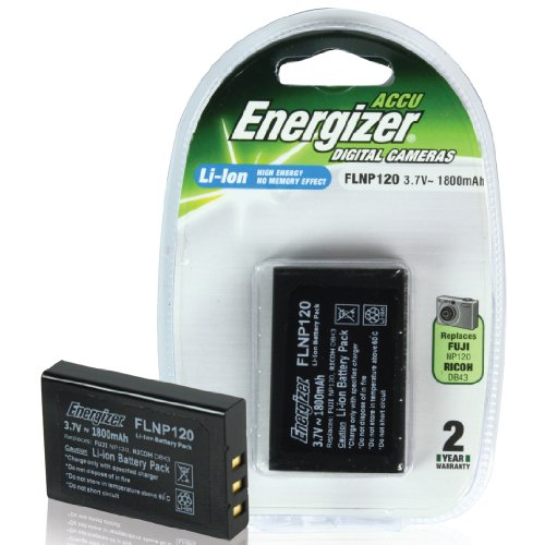 Energizer FLNP120 Digital Camera Battery Equivalent to Fuji NP-120, Pentax D-Li7 Battery