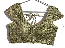 Readymade Blouse - Latest Golden Readymade Blouse - FREE SIZE | KC