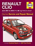Renault Clio 1.2 1.4 1.6 RT RXE Expression 1.5 DCi Diesel 2001-2005 Haynes Manual