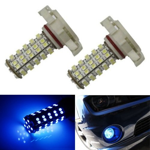 Ijdmtoy 68-Smd 5202 H16 Led Replacement Bulbs For Fog Lights Or Daytime Running Lamps, Ultra Blue