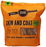 BIXBI Skin and Coat Premium Made In USA Healthy Natural Dog Jerky Treats, 15-Ounce, Chicken