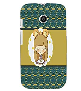 PrintDhaba Cartoon D-4319 Back Case Cover for MOTOROLA MOTO E (Multi-Coloured)