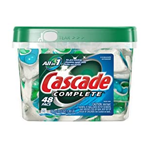Amazon - Cascade Complete Dishwasher Detergent 48-Pack - $10.11