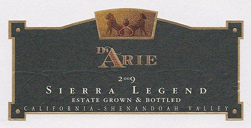 2009 C.G. Di Arie Cellar Select Wines Sierra Legend 750Ml
