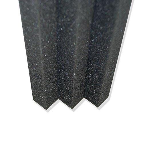 Column acoustic wedge studio soundproofing foam corner for Foam block wall construction