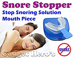 Gadget Hero's Snore Stopper Sleep Apnea Help Aid, Food Grade EVA, Mouth Piece, Bruxism Support, Anti Snore Device