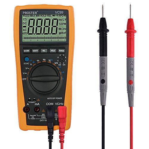 Digital-Multimeter-Proster-5999-3-56-Auto-Ranging-Digital-Multimeters-Meter-Amp-Ohm-Volt-Meter-Multi-Tester-with-Capacitance-Test-and-Temperature-Measurement