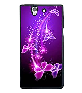 printtech Butterfly Starry Sparkling Back Case Cover for Sony Xperia Z , Sony Xperia Z L36h