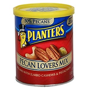 Planters Pecan Lovers Mix, 5.5-Ounce Canisters (Pack of 6)