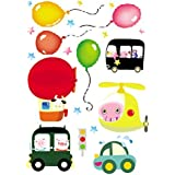 Damara Balloon Fairy Tale Wall Stickers Art Children Room Decor