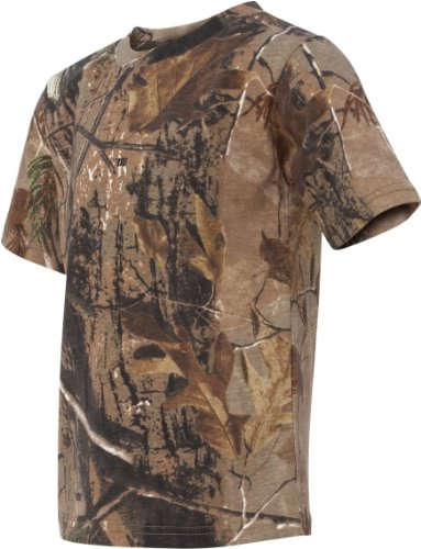 Code V - Youth RealTree Camo Short-Sleeve T-Shirt - 2280 - RealTree AP HD - Large