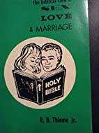 The Biblical view of sex, love and marriage…