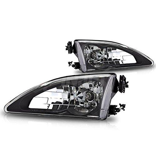 Starr Lite 94-98 Ford Mustang Cobra Crystal Head Lights - (Black / Clear)