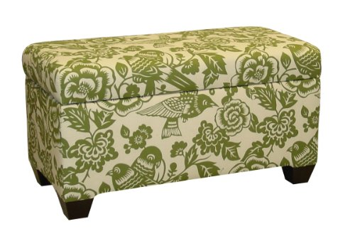 Skyline Furniture Walnut Hill Storage Bench in Canary Fabric at Sears.com