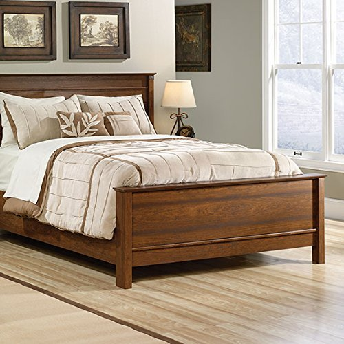 sauder-carson-forge-queen-footboard-and-rails-washington-cherry-by-sauder