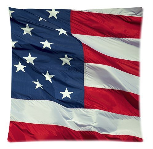 "Butuku American Flag Pillow Case Custom Pillow Case 18""X18""(Two Side) front-753806"