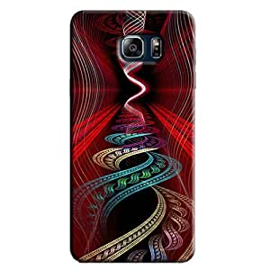 RED & COLORFUL RIPPLES BACK COVER FOR SAMSUNG GALAXY NOTE 5