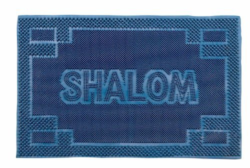 Judaica-Shalom-Door-Mats-Welcome-Mats-Rubber-Mats-Jewish-Symbols-of-Peace