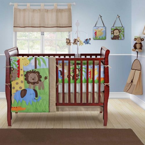 Zany Jungle 10 Piece Crib Bedding Set by Bananafish