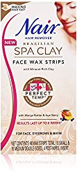Nair Brazilian Spa Clay Face Wax Strips, 40 Strips