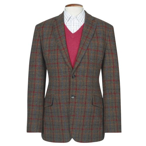 Genuine New Mens Fitted Harris Tweed Light Weight Wool Angus Jacket