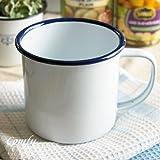 キッチン雑貨 ホーロー マグカップ 北欧カントリー おしゃれでかわいい 人気のアンティーク調 ホワイト