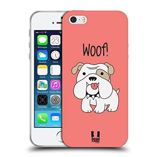 Head Case Designs Bulldog Happy Puppies Soft Gel Case for Apple iPhone 5 / 5s / SE (Bulldog Iphone 5s compare prices)