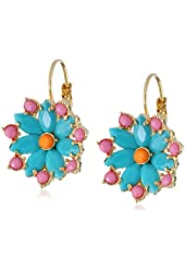 "Carolee ""Rio Radiance"" Floral Drop Earrings"