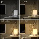 1byone-LED-Nachttischlampe-mit-Berhrungssensor-RGB-Farbwechsel-Funktion-Intelligentes-Dimmbares-Stimmungslicht