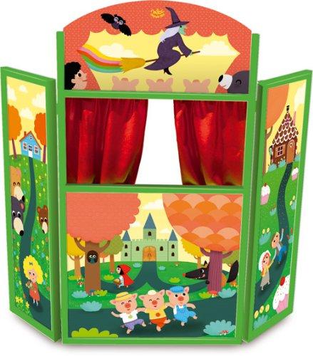 Vilac 4624 Los cuentos de Melusina - Teatro de madera en tríptico (115 cm)