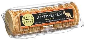 Waterwheel Fine Wafer Crispbread, Australiana Minis 3.5-Ounce Boxes (Pack of 12)