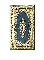 L'EDEN DEL TAPPETO Alfombra Kerman Azul/Beige 118 x 216 cm