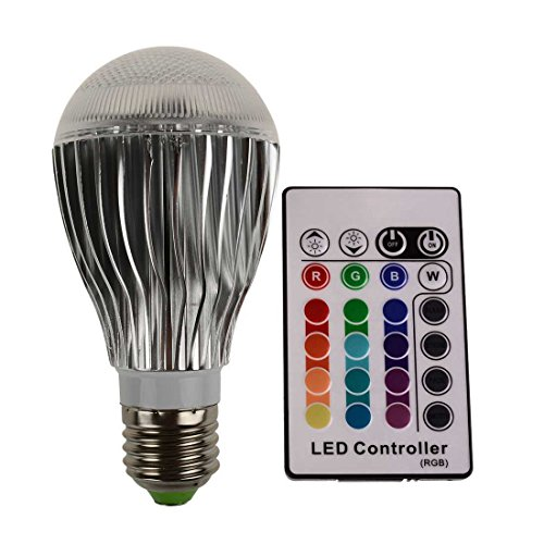 Sungetace 16 Colors Changing Rgb 10W E27 Led Domineering Global Light Bulb Wireless Remote Control