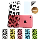 ESR Animal Kingdom Series Hard Clear Back Cover Snap on Case for iPhone 5C (Leopard)