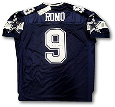 Tony Romo Hand Signed Autographed Official Blue Dallas Cowboys Jersey UDA COA