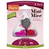 Hartz 3-Pack Mini Mice Cat Toy